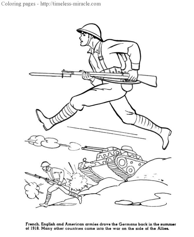 World war 1 coloring page 1