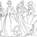 All disney princesses coloring page