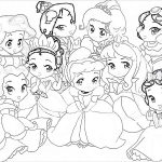 Baby disney princess coloring page
