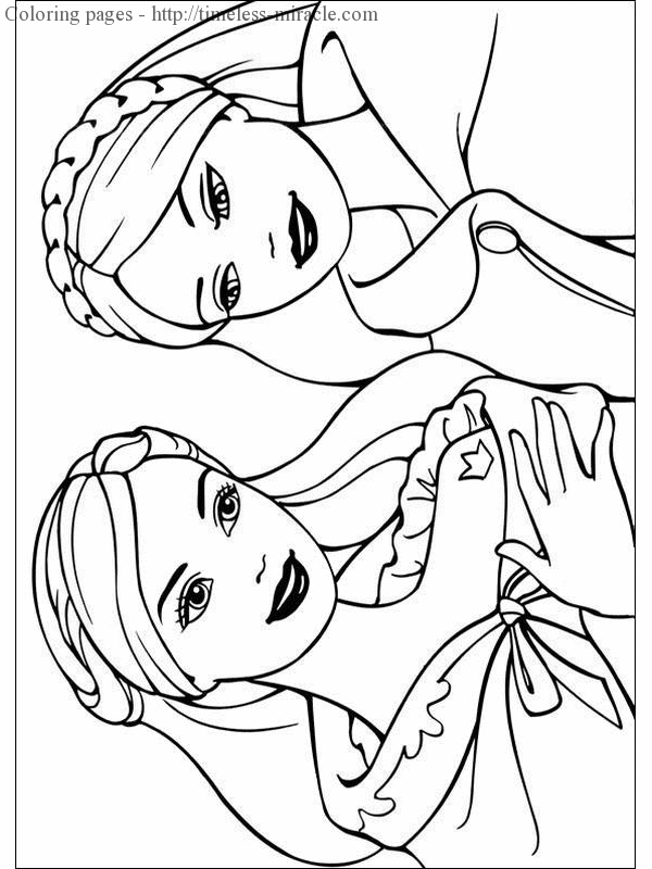 Barbie Princess Coloring Page Photo - 7 - Timeless-miracle.com