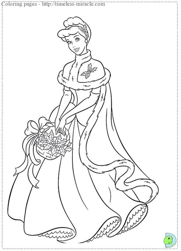 christmas princess coloring pages timeless. Black Bedroom Furniture Sets. Home Design Ideas