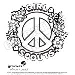 Coloring pages for girl scouts