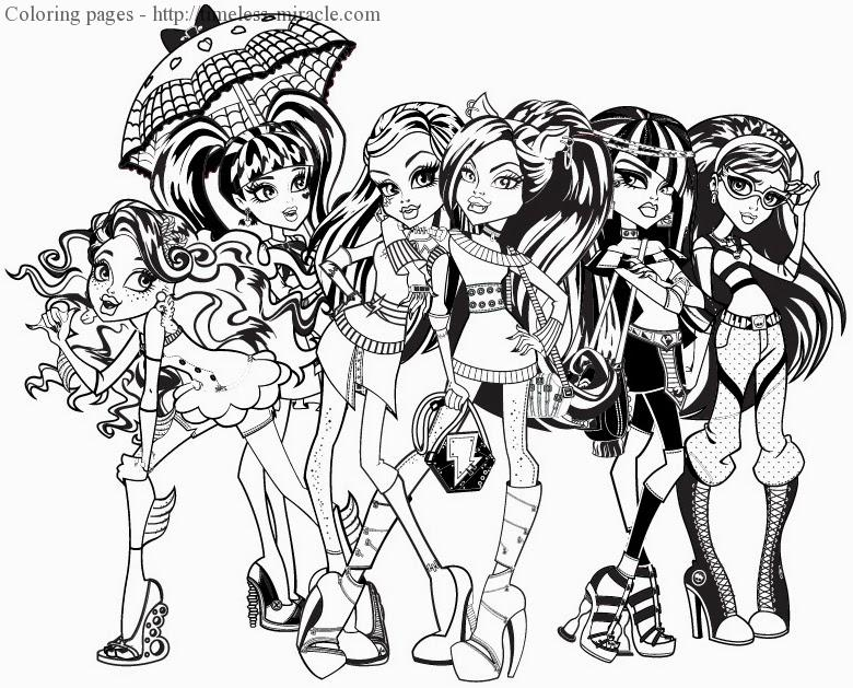 Coloring pages for girls monster high Photo - 7 - timeless ...