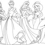 Coloring pages of princesses in disney new version
