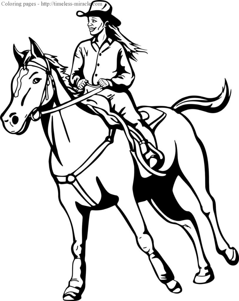 Cowboy And Cowgirl Coloring Pages Timeless Miracle Com