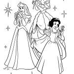 Disney princesses colouring page