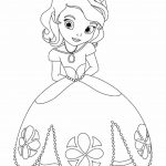 Free coloring page of princesses