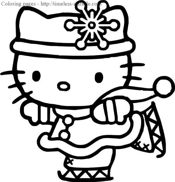 Hello Kitty Princess Coloring Pages Timeless Miracle Com
