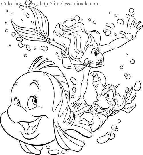 Mermaid Princess Coloring Pages Photo 13 Timeless Miracle Com