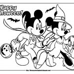 Mickey halloween coloring pages
