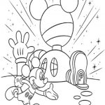 Mickey mouse club house coloring pages