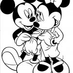 Minnie mouse and mickey mouse coloring pages