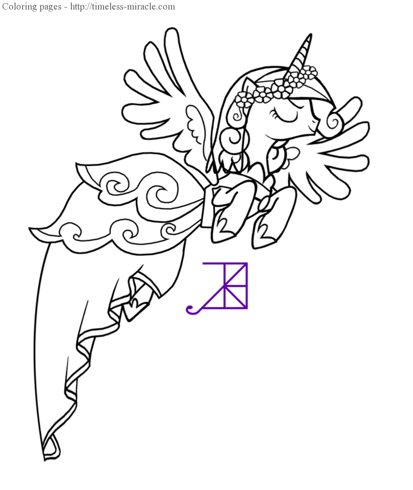 My Little Pony Princess Cadence Coloring Pages Photo 4