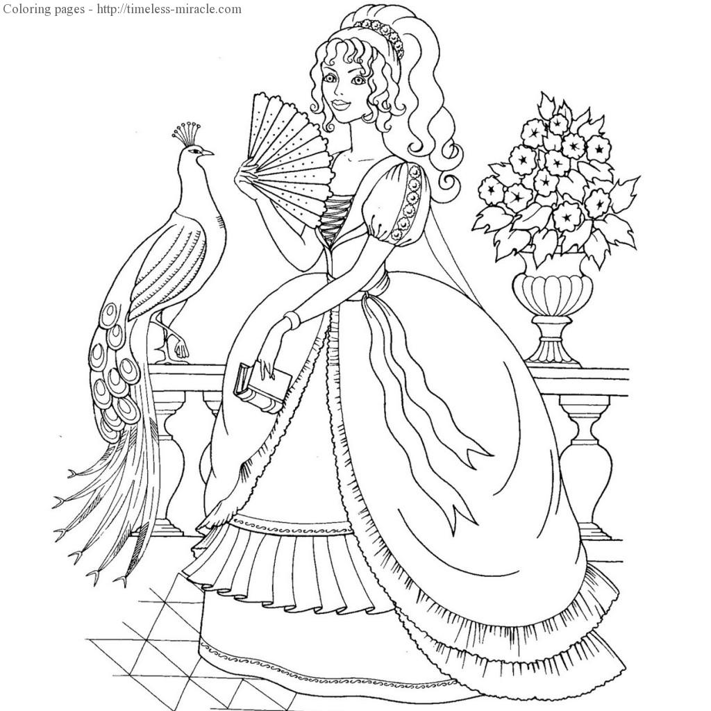 Beautiful princess coloring pages coloring page for Beautiful princess coloring pages
