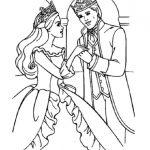 Princess and prince coloring page