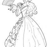 Princess barbie coloring pages