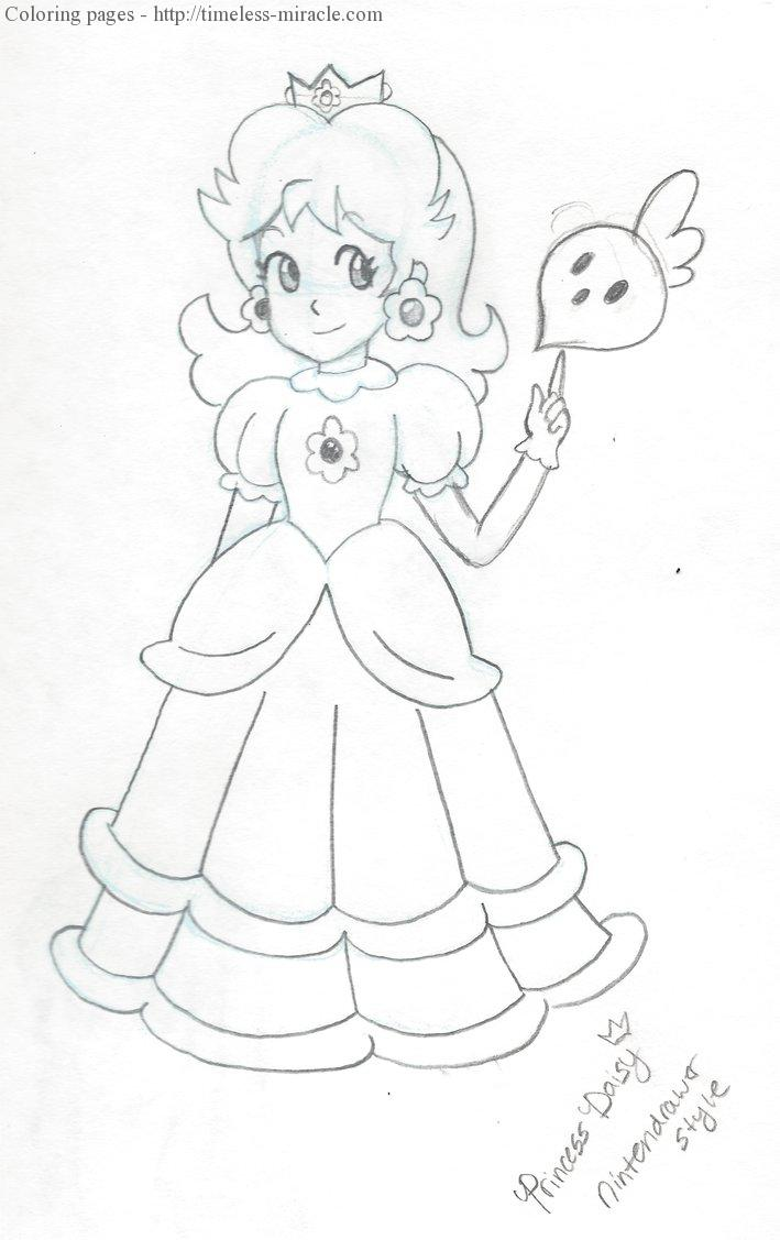 Super Mario Daisy Coloring Pages - Coloring Home | 1127x709