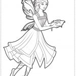 Princess fairy coloring pages