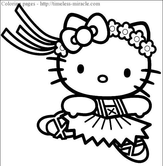 Princess Hello Kitty Coloring Pages Photo 17 Timeless Miracle Com