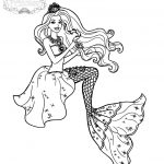 Princess mermaid coloring pages