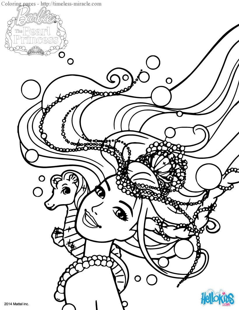 Princess Mermaid Coloring Pages Photo 19 Timeless Miracle Com