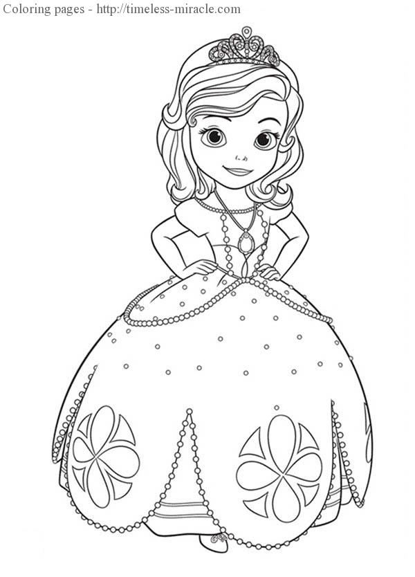 - Princess Sofia Coloring Pages Photo - 6 - Timeless-miracle.com