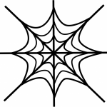 Spider web coloring page rel.