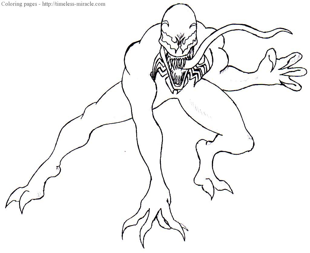 Spiderman Venom Coloring Pages Photo 11 Timeless Miracle Com
