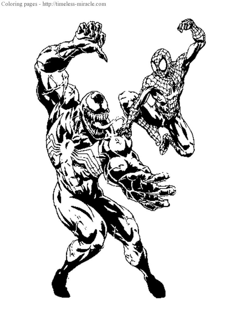 Spiderman vs venom coloring pages - timeless-miracle.com