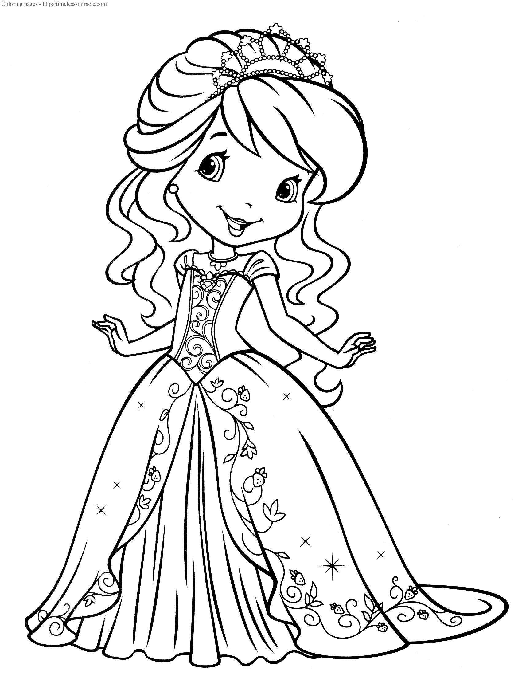 Strawberry shortcake princess coloring pages - timeless ...