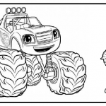Blaze and the Monster Machines colouring pages