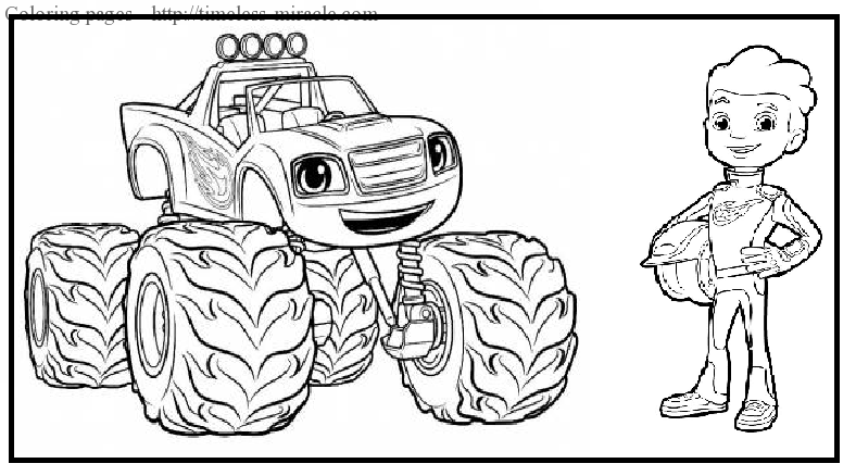 Monster Machines colouring pages 2