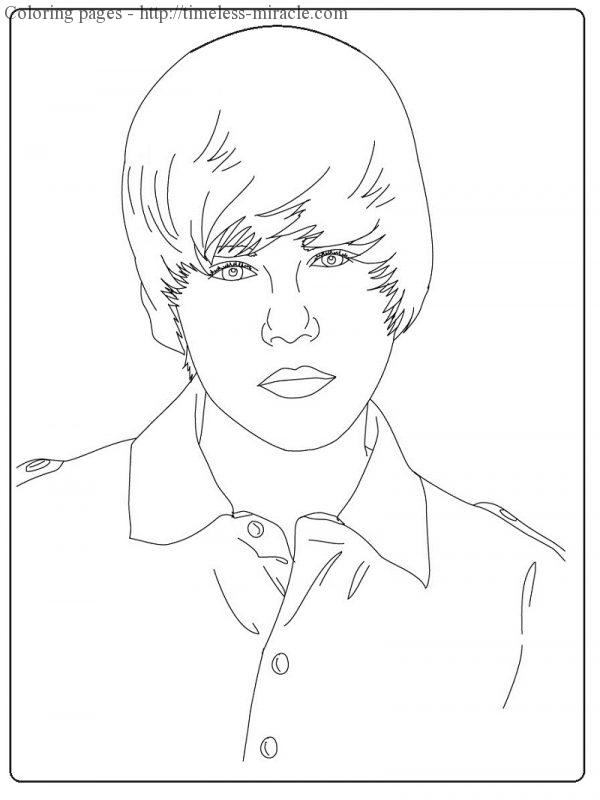 Coloring pages Justin Bieber