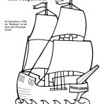 Free thanksgiving coloring pages mayflower