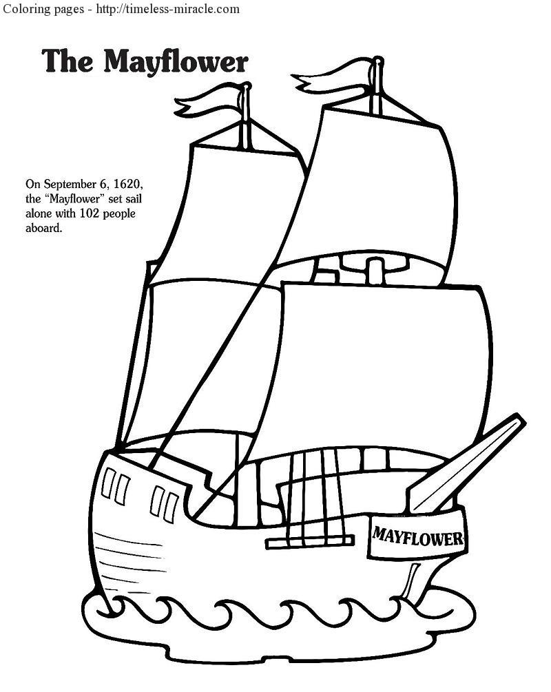 mayflower coloring pages - mayflower coloring page coloring pages