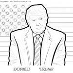 Trump coloring page