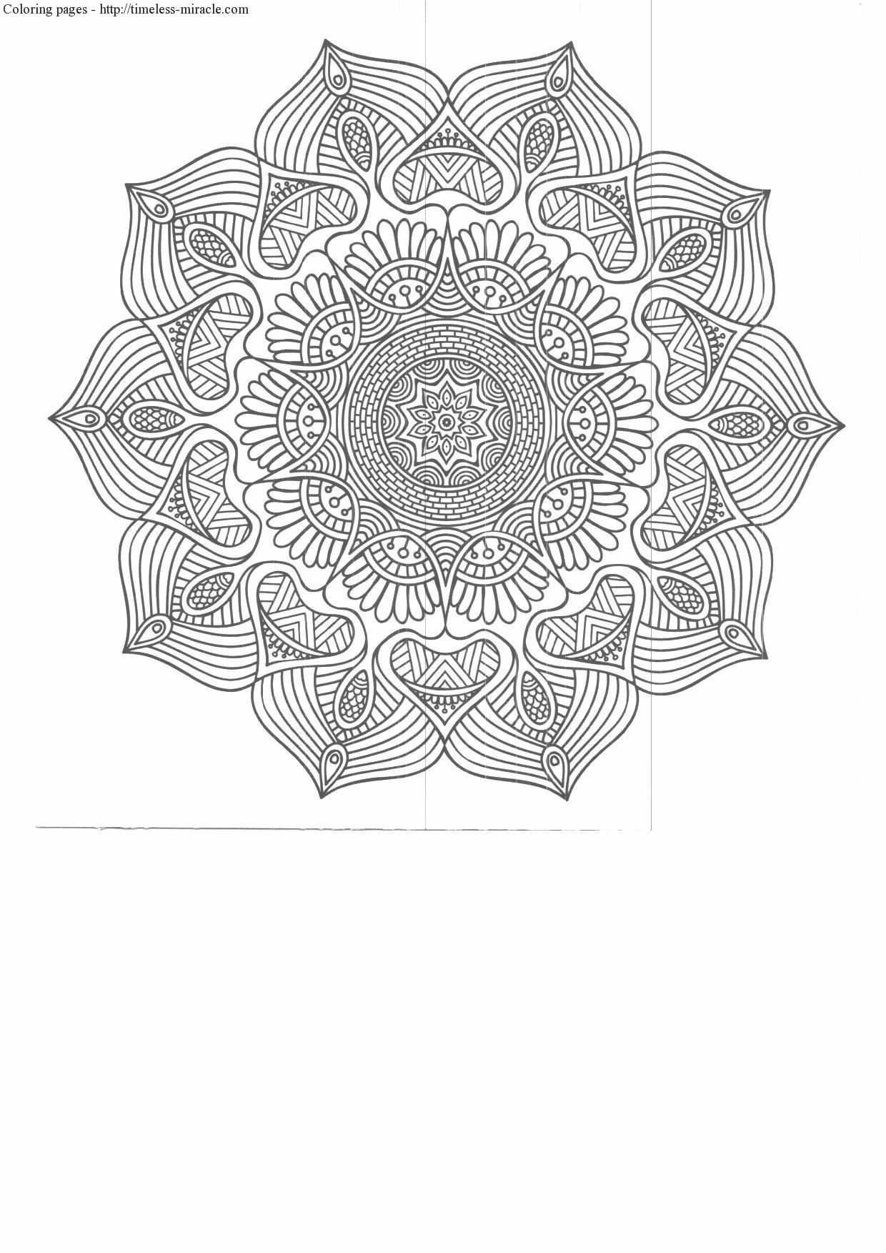 Anti Stress Coloring Pages Printable Timeless Miracle Com