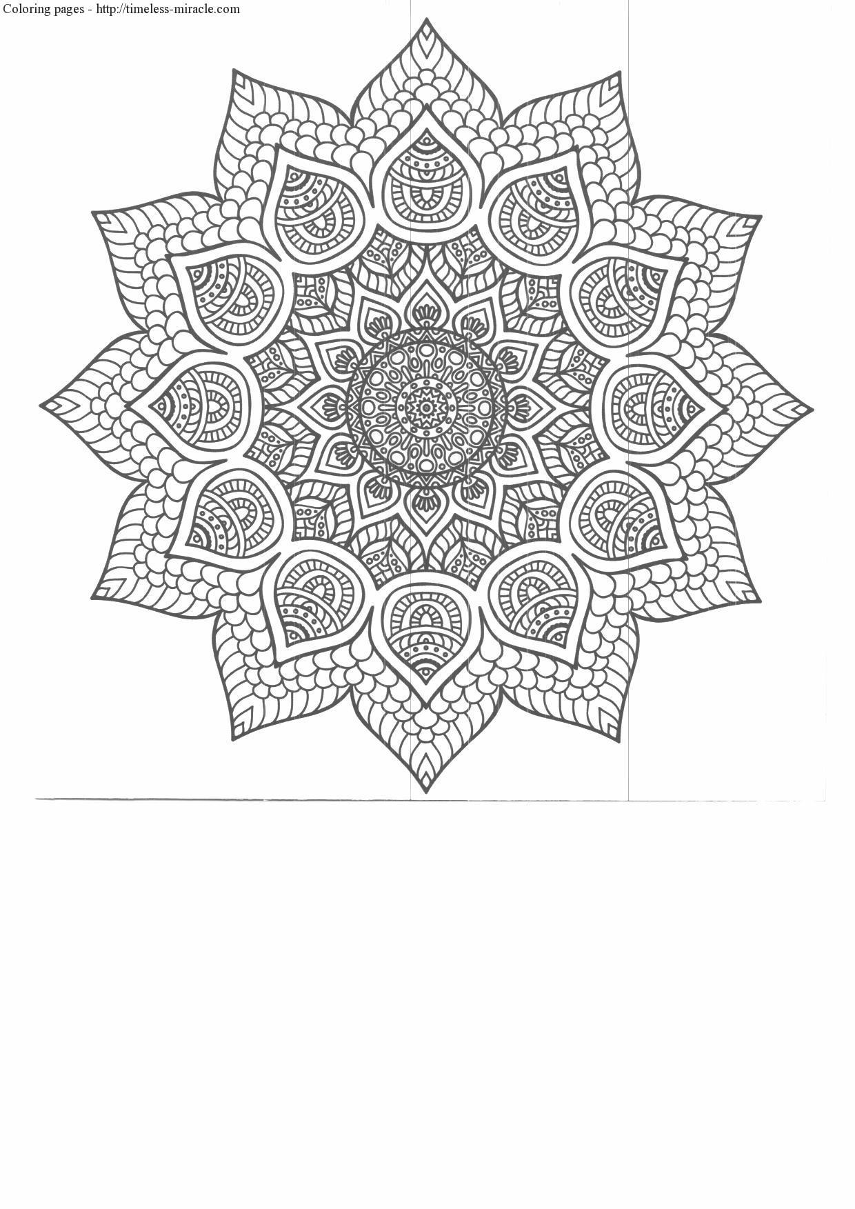 Anti Stress Coloring Pages To Print Timeless Miracle Com