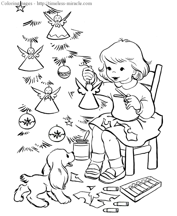 Christmas tree coloring pages Christmas  coloring page free (printables)