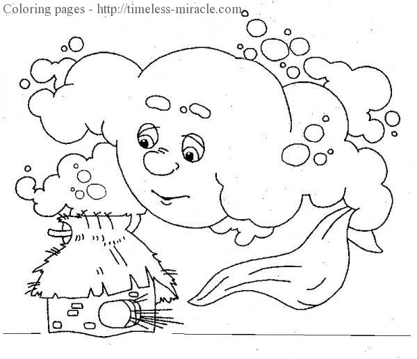 Сloud coloring page
