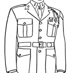 Coloring page for veterans day