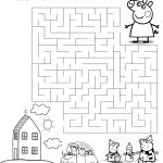 Coloring page Peppa labyrinth