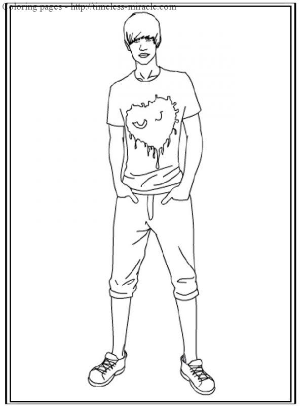 Coloring pages to print of Justin Bieber