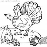 Happy turkey day coloring page printable