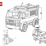 Lego car coloring page
