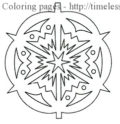 round snowflake coloring page