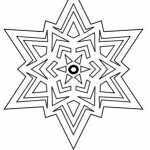 Snowflake star coloring page