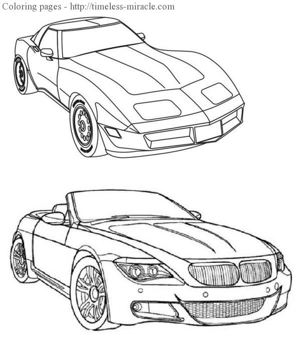 Cool cars coloring pages For kids  coloring page free (printables)