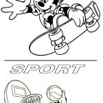 Micky mouse coloring page