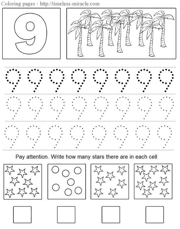 number colouring pages